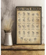 Yoga Hasta Mudras Vertical Art Print Poster, Indoor Home Decoration Gift - $25.59+