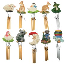 10 Collectable Assorted Animals - Ceramic Wind Chime Refrigerator Magnets - $14.95