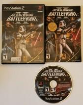 Star Wars: Battlefront II PlayStation 2 2005 PS2 *COMPLETE* - $9.49