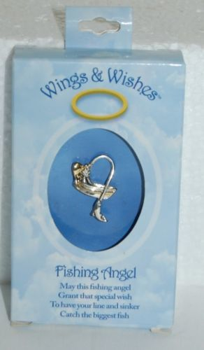 DM Merchandising Wings Wishes Fishing Angel Boat Catching Fish