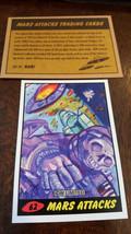 2014 Topps IDW Limitierte Mars Attacks Nachdruck Sketch Card Aprikose Ma... - $9.89