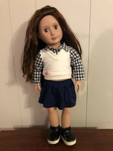 """Our Generation 18"""" Adria Doll With Outfit Clothes School Girl - $29.69"""