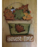 "NEW Harvest Time Wooden Plaque 12-1/4"" x 9"" - $9.87"