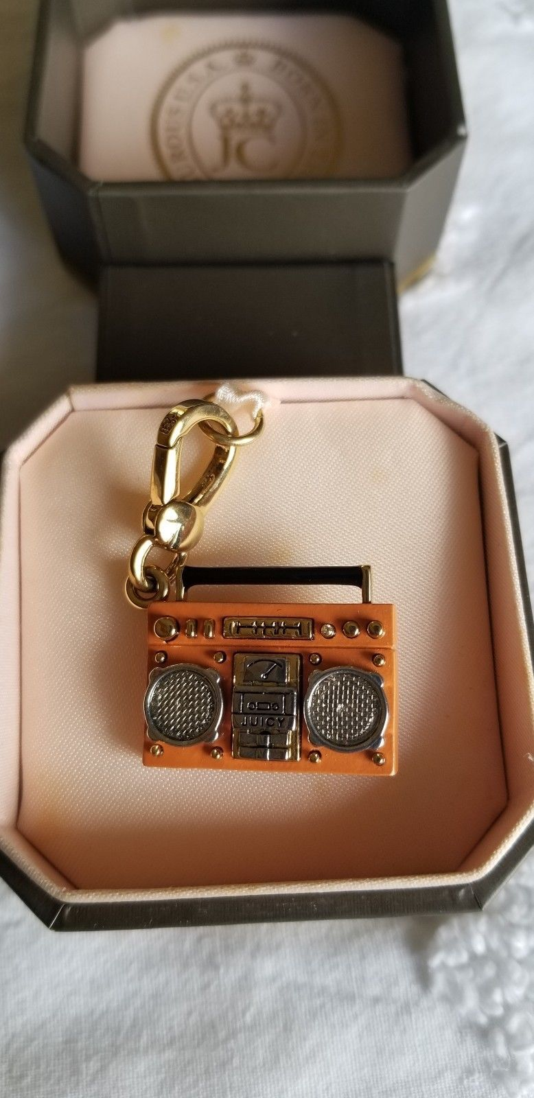 Primary image for Juicy Couture Retired Boombox Radio Charm with Box EUC