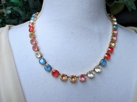 "Swarovski crystals/""Fantasy Suite""/Floral necklace/12mm statement necklace - $35.00+"