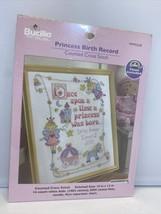 Bucilla Princess Birth Record Counted Cross Stitch 10x13 In 14-Count Sea... - $15.83
