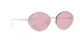 Prada PR60US 1BC239 63 Silver Oval Sunglasses Light Violet Hibiscus Prin... - $376.20