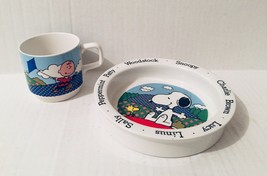 Peanuts Johnson Brothers/Bros Bowl Cup Set Dish England Snoopy 1965 Vintage - $39.59