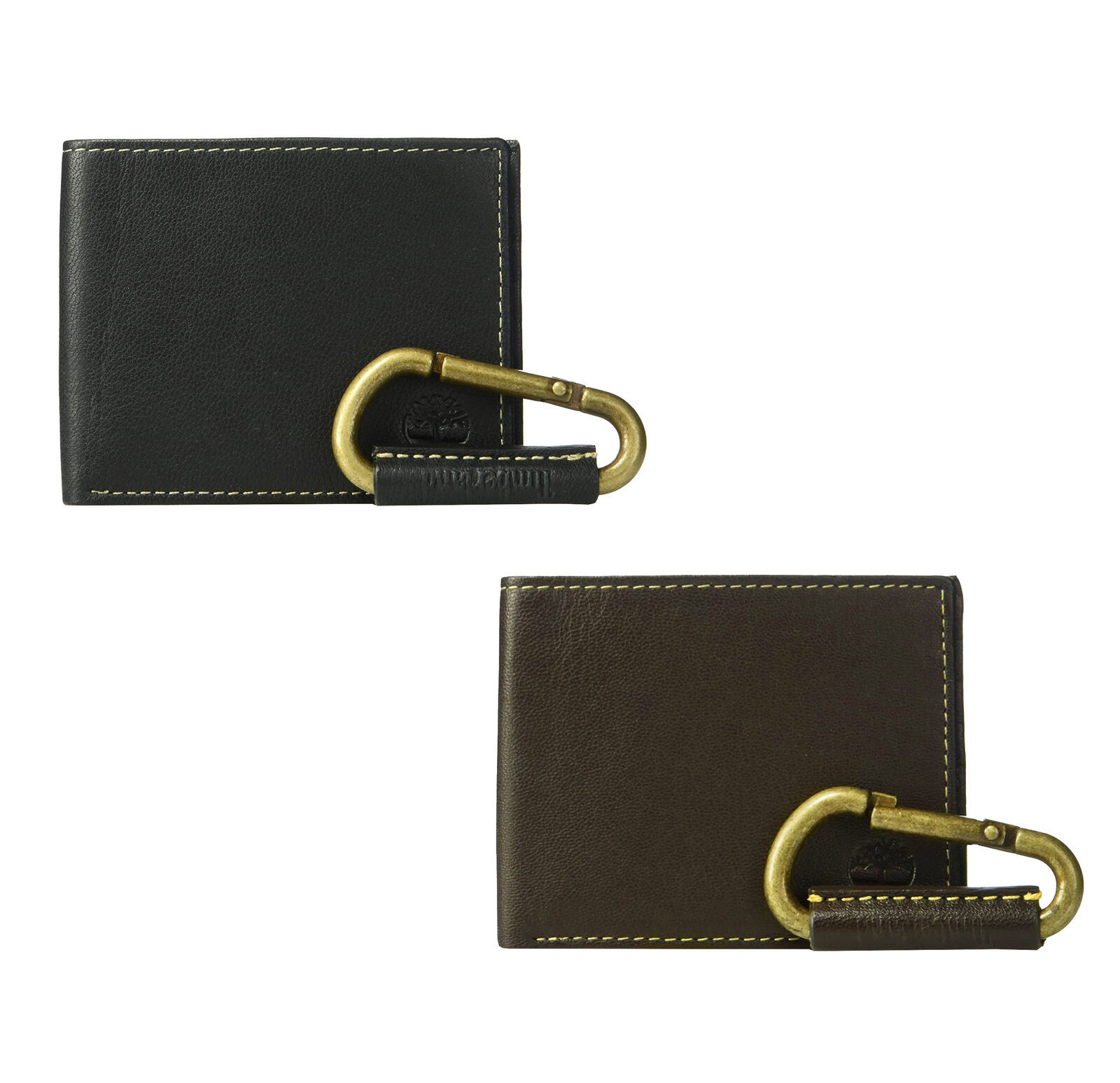 Timberland Men's Leather Billfold Logo Wallet w/ Leather Key Chain NP0440/01
