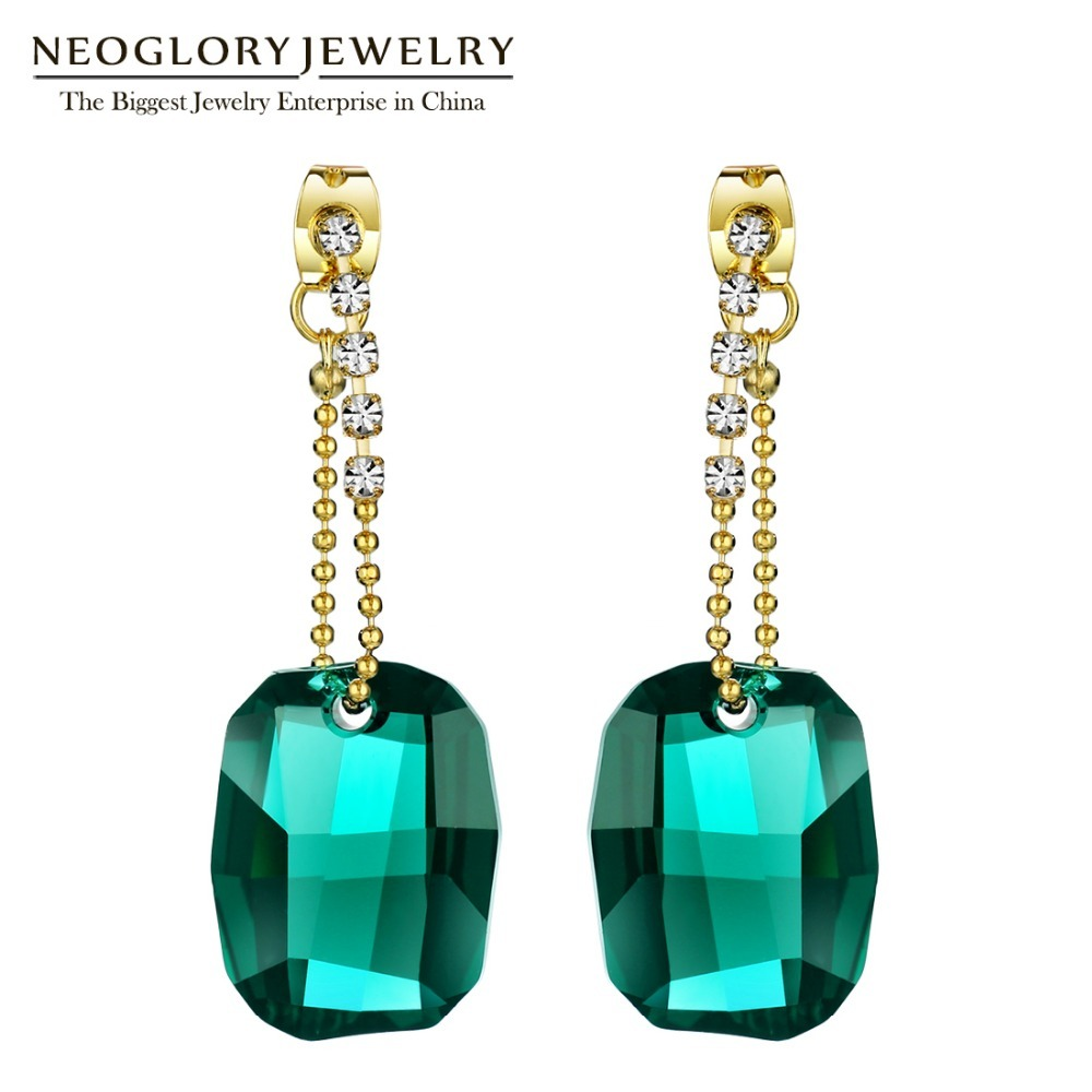 Ade with swarovski elements crystal big chandelier drop earrings for women 2018 new indian style