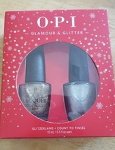 OPI NAIL POLISH GLAMOUR & GLITTER – HOLIDAY BLOCKBUSTER DUO , FULL SIZE - $14.90