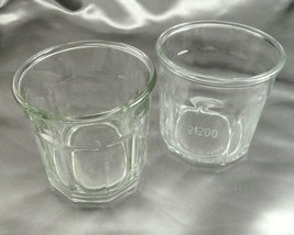 Luminarc 500 Glass Tumblers 10 Panel 12oz Vintage Made in France ~ Set of 2 - $12.95