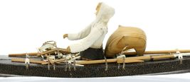 Greenlandic Inuit Miniature Skin on Frame Kayak Model in Exceptional Condition image 10