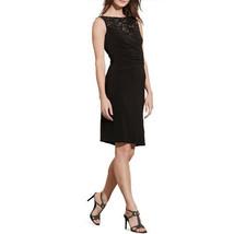 Lauren Ralph Lauren Plus Size Sequined-Yoke Sheath Dress, Black, 18W - $51.17