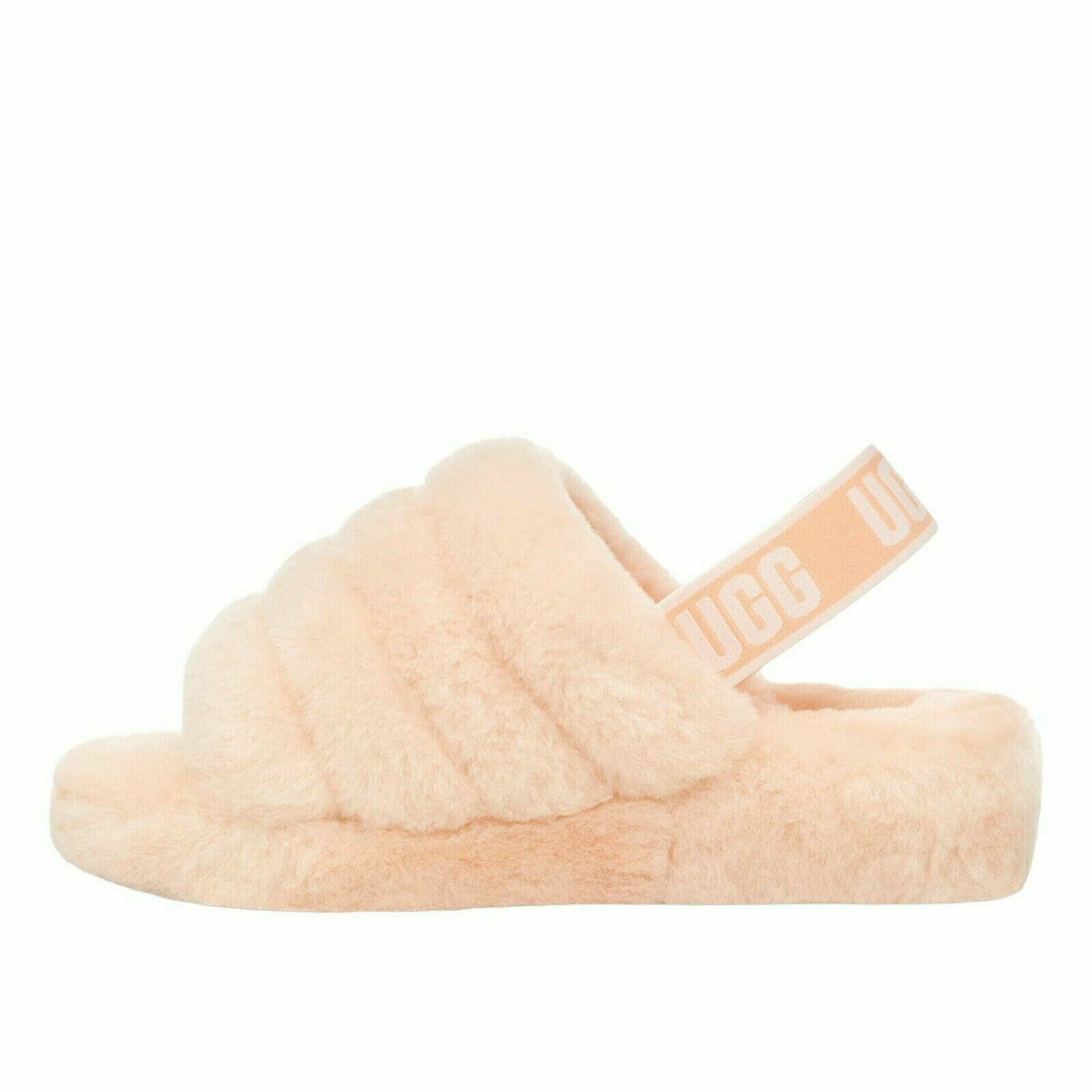 Primary image for UGG Fluff Yeah Slide Scallop Women's Sheepskin Slipper Sandals 1095119