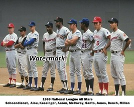 MLB 1969 National League Starting Line Up Color 8 X 10 Photo Picture - $6.99