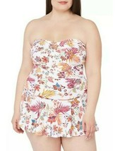 Lauren Ralph Lauren Jacobean Floral Skirted Swimsuit One-Piece Plus Size... - $89.10