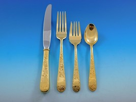 Old Maryland Engraved Gold Kirk Sterling Silver Flatware Service 6 Set V... - $2,150.00