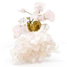 Polished Rose Quartz Gemstone Miniature Gem Tree Mini Gemtree image 4