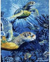 Signature Series Luxury Plush Blanket, Sea Turtles - $49.50