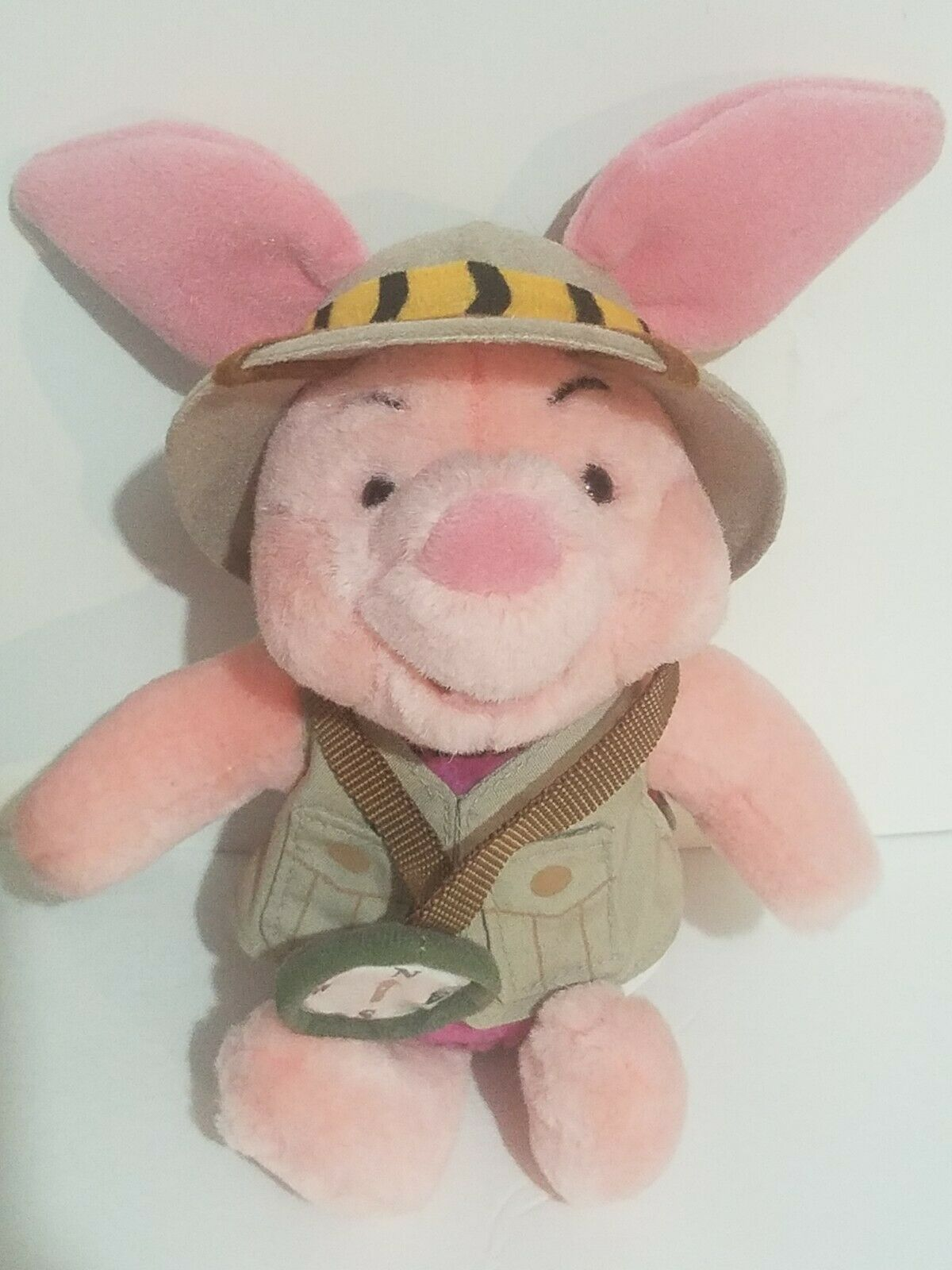 "Disney Parks Plush Safari Piglet 9"" Eeyore 7"" Stuffed Toys Animal Kingdom New"