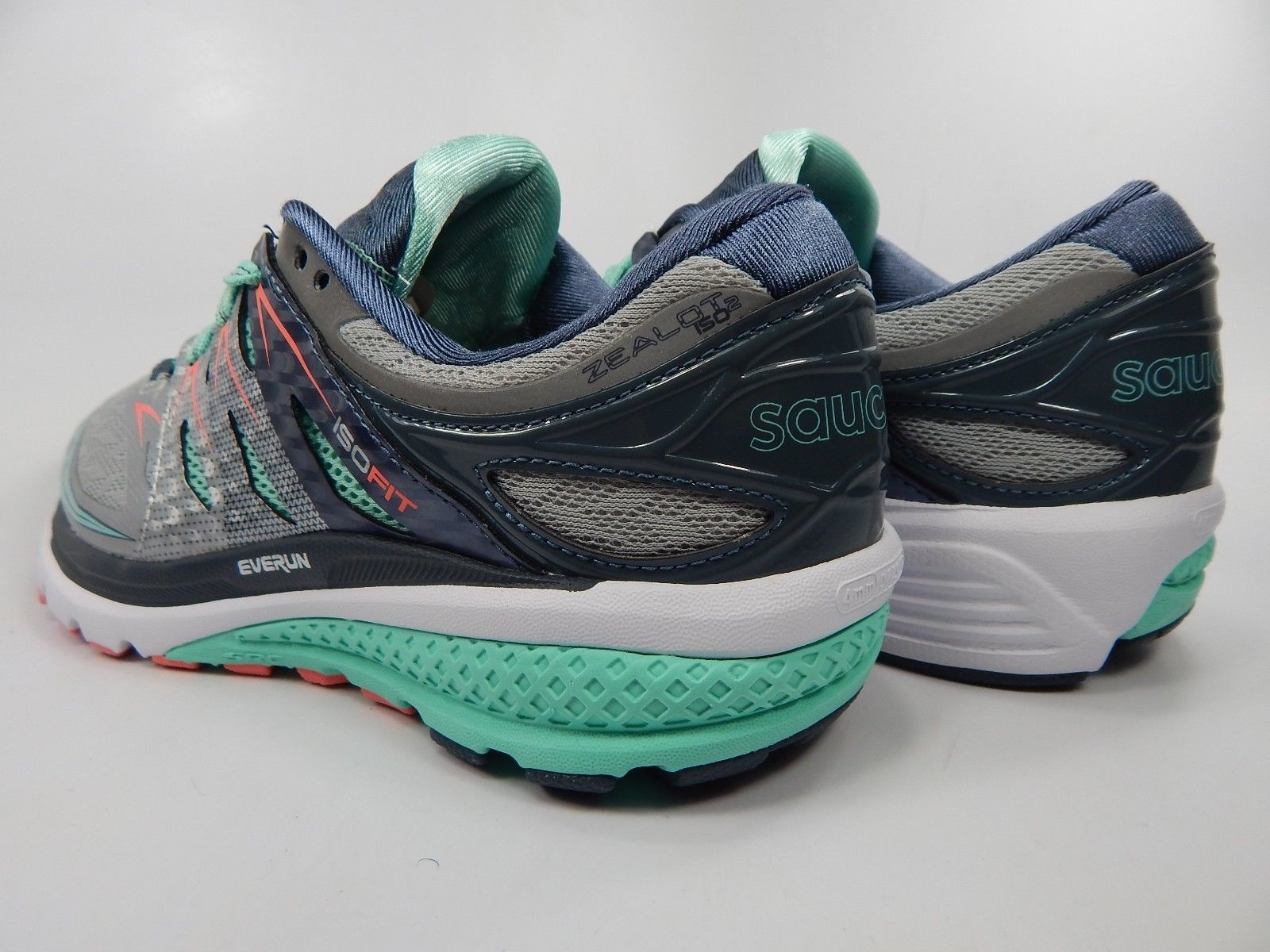 5, 5.5 Coral Running Sneakers NEW Women/'s Saucony Zealot ISO Turquoise