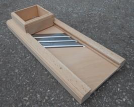 Wooden Cabbage Shredder 24 inch 61cm Mandoline Slicer Triple Blade - $60.43