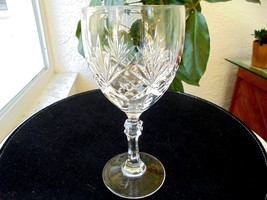 "Cut Crystal High Quality Wine Goblet 7 1/8"" Tall - $18.99"
