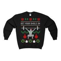 get your swole on christmas gym weights ugly sweatshirt - $29.95+