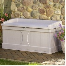 Deck Storage Box Outdoor Patio Resin Weatherproof Garden Backyard Seat C... - $150.76