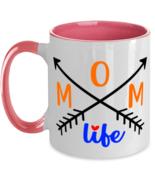 Living The Mom Life - 11 oz Pink Two-Tone Coffee Mug  - £13.07 GBP