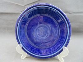 Vintage Fiesta USA blue cobalt ceramic US Pottery deco salad plate - $10.00