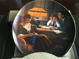 """KNOWLES NORMAN ROCKWELL """"FATHER'S HELP"""" PLATE - $13.37"""