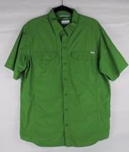 Columbia Omni shade men's button down sun protection short sleeve green ... - $16.60