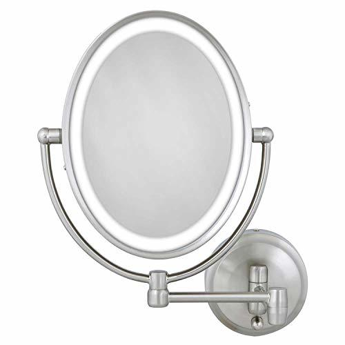 Primary image for Zadro 10X/1X Next Generation LED Lighted Oval Wall Mount Mirror, Satin Nickel