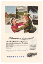 Greyhound Military WWII '40s Soldier Bus Advertisement Original Ad Page ... - $8.79