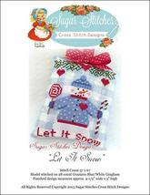 Let it Snow snowman christmas cross stitch chart Sugar Stitches Designs  - $6.00