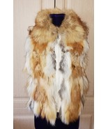 New red fox fur collared vest - $99.00