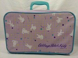 1986 Cabbage Patch Kids Purple & Turquoise Suitcase Luggage Carry On Bag Travel - $24.75