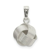 Sterling Silver 925 Polished Love Knot Charm Pendant 0.71 Inch - $14.89