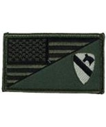 ARMY 1ST CAVALRY OD GREEN FLAG 2 X 3  EMBROIDERED PATCH WITH HOOK LOOP - $23.74