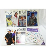 Vintage craft magazine pattern decorting paint on clothing stencils lot ... - $20.79