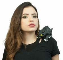 Black Cat Shoulder Buddy Costume Prop Accessory Halloween Latex - $11.75