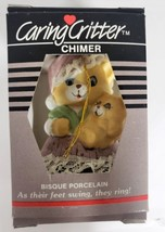 Vintage Jasco Caring Critter Chimer Porcelain Bell Ornament - Mother Cat... - $13.49