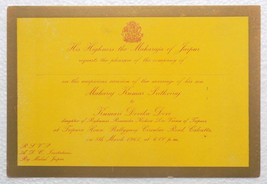 India Jaipur State 1961 Invitation card with crest unused good item.#C-253 - $6.04