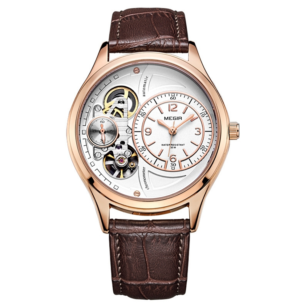 MEGIR 2017 Military Stay Quartz Watches Leather Strap Clock Mechanical Appearanc