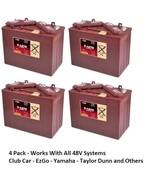 4 Pack, 48V - 12 Volt Golf Cart Batteries - Trojan Battery T-1275 Club C... - $1,264.68