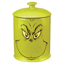 Dr. Seuss How The Grinch Stole Christmas Grinch Face Ceramic Cookie Jar ... - $87.07