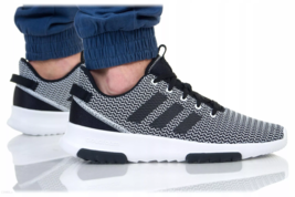 Adidas CF Racer Men's Running Trainers Sneakers Shoes DA9305 Black / White - $66.15