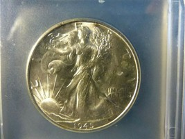 1945-S WALKING LIBERTY HALF DOLLAR MS-64 - $55.44